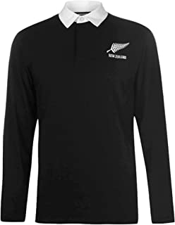 comprar comparacion Nueva Zelanda - Camiseta de rugby de manga larga para adultos (100% algodón, tallas S a 3XL)