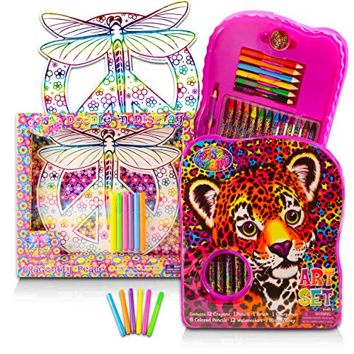 Lisa Frank Coloring Art Activity Super Set Bundle - Giant Lisa Frank Activity Set with Art Pad, Paint with Water Supplies, Crayons, Pencils and More (Party Supplies)