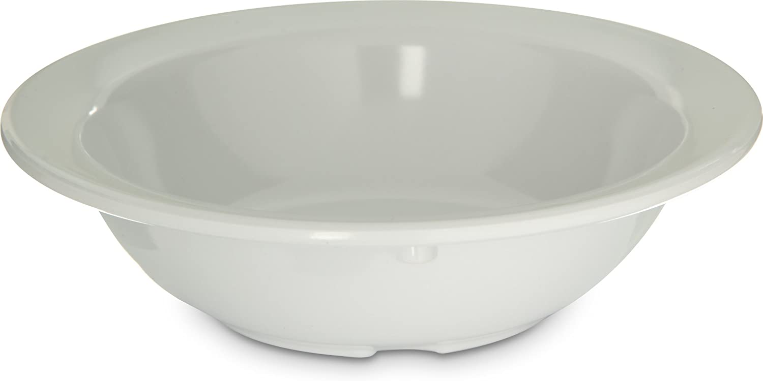 Carlisle 4353102 Fruit Bowls, Set of 48 4-3 4-Ounce, Melamine, White