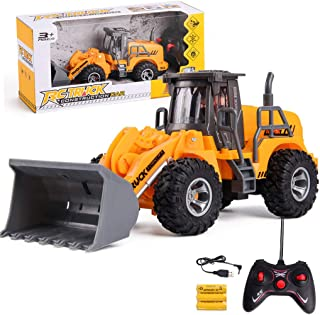 uookboy-Tools Remote Control Electric Engineering Truck Vehicles-RC Wireless Dumper Truck Toy Great Gift for Kids Boys Adults Can Develop Children's Imagination and Physical Ability (Yellow C)