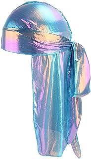 5f17f810c14 YJYdada Men Women Silk Polyester Bandana Hat Durag Rag Tail Headwrap  Headwear Gift (C