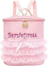 Ballerina Ballet Pink Tutu Dress Dance Duffel Bag Backpack for Littler Girls (Short Lace)