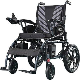 HXCD Silla de Ruedas de Ocio eléctrica multifunción Inteligente para Personas discapacitadas, Silla de Ruedas eléctrica Plegable Ligera de Gran tamaño para discapacitados