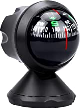 Car Compass Ball Car Accessories Mini Compass Compact Ball Compass with Adhesive and Delicate Decoration, Perfect for Finding Direction, Universal Dashboard Dash Stand Compass for Most Boat Car Truck