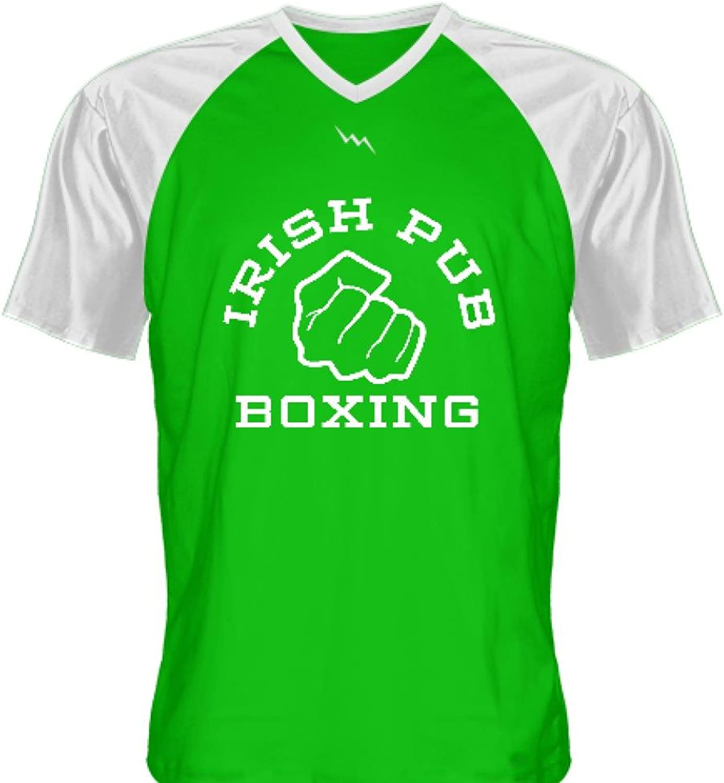 3d8d5bc37 LightningWear Irish Pub Boxing T Shirt Green Green Green V Neck e31ca8