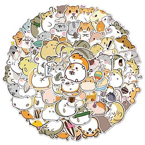 PMSMT 10/50 / 100pcs Cute Cartoon Tier Little Hamster Aufkleber Pack für Scrapbook Briefpapier Laptop Telefon Gitarre Koffer Mädchen Aufkleber