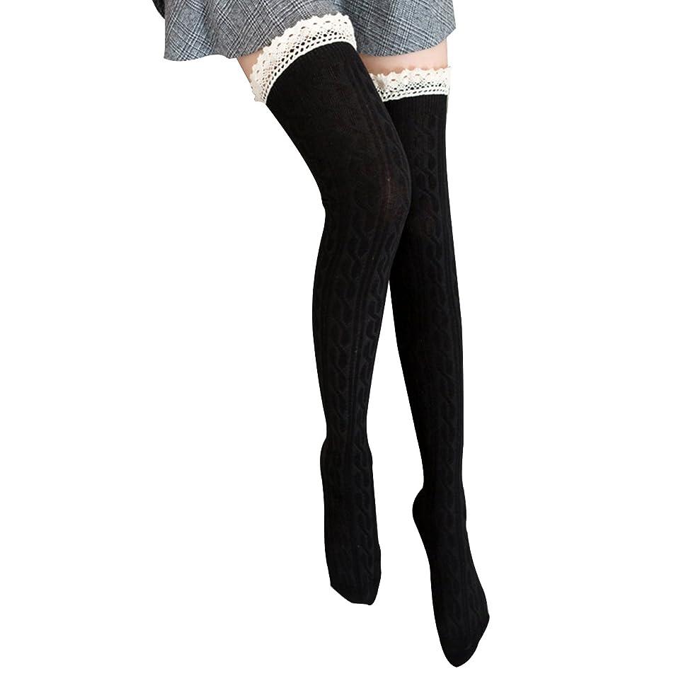ベーシック見物人炭水化物オーバーニーソックス 美脚 着圧 スッキリ サイハイソックス ニーハイ ストッキング ロングソックス レディース 靴下 かわいい