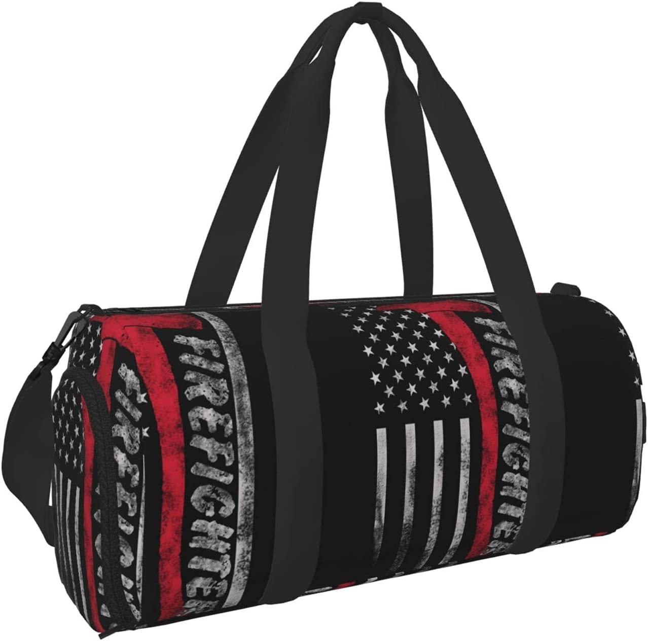 Msacrh American Thin Red Beauty products Line Award Flag Bag Firefighter Gym Sport Duf