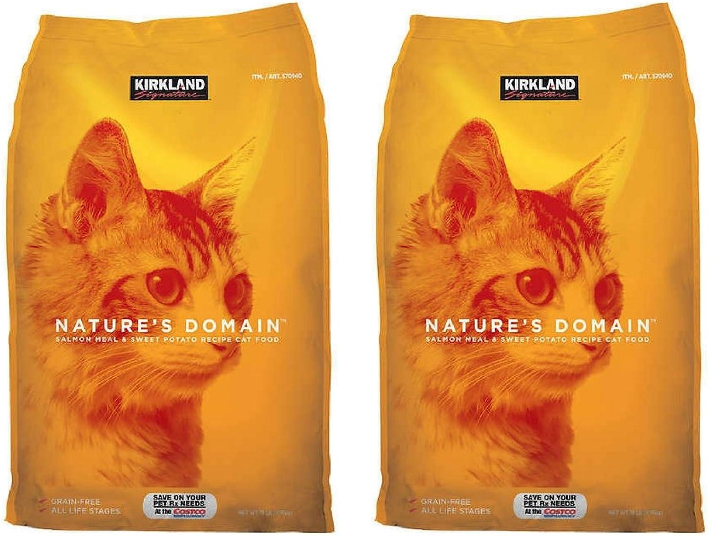 Kirkland Signature Nature's Domain Salmon Meal & Potato Formula for Cats  18 lb (2 Pack)