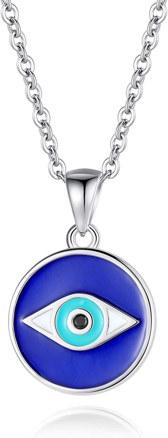 925 Sterling Silver Evil Eye Necklaces Crystal Luc Cz Gift Women National uniform Atlanta Mall free shipping