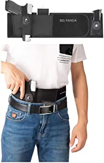 Belly Band Holster for Concealed Carry,Black- Breathable Neoprene Waist Holster for Men and Women - Fits Glock, Kahr, Beretta, Sig Sauer, Ruger LCP, M&P Shield, etc
