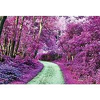 Qinunipoto 背景布 春 撮影布 背景紙 撮影 背景 写真 布背景 撮影布 自然の風景 写真背景布 自然の風景 写真を撮る背景紙 ロマンチックなシーン ワイルドウォーク 小道具 ビニール 2.7m x 1.8m