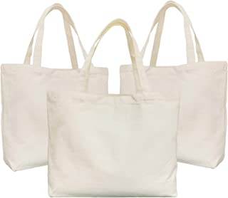 Canvas Tote, KOOLMOX Cotton Bags with Handles, 12Oz Heavy Duty Fabric Bags, Reusable & Washable Grandma Tote Bag for Women...