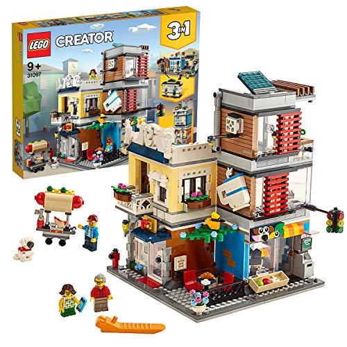 LEGO Creator 3in1 31097 Negozio degli Animali & Café, Set di costruzioni 3in1 con Negozio degli Animali & Café o una Banca a più Piani o una Strada co