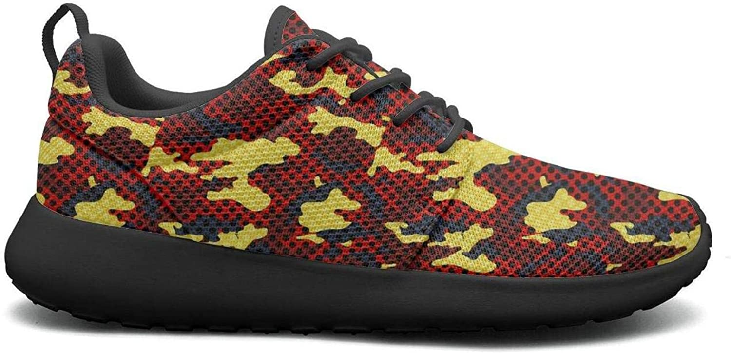 Wuixkas Camouflage Collage Army Womens Lightweight Mesh Sneakers Cute Athletic shoes