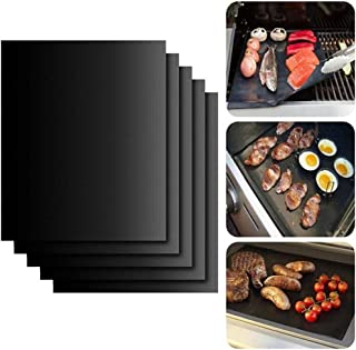 Kehuashina BBQ Barbecue Pad with High Temperature Resistance, Non-stick Outdoor Barbecue Mat, Three Colours are Optional, ...