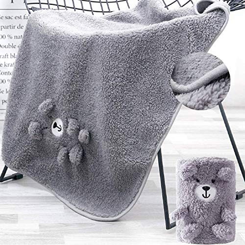 Plush Nursery Baby Bedding Blanket Grey, 2-Sided Sherpa Baby Blanket Bear,Lightweight and Warm Swaddling Blankets for Infant, Toddlers, Newborn, One Size, Ideal for Gift Giving