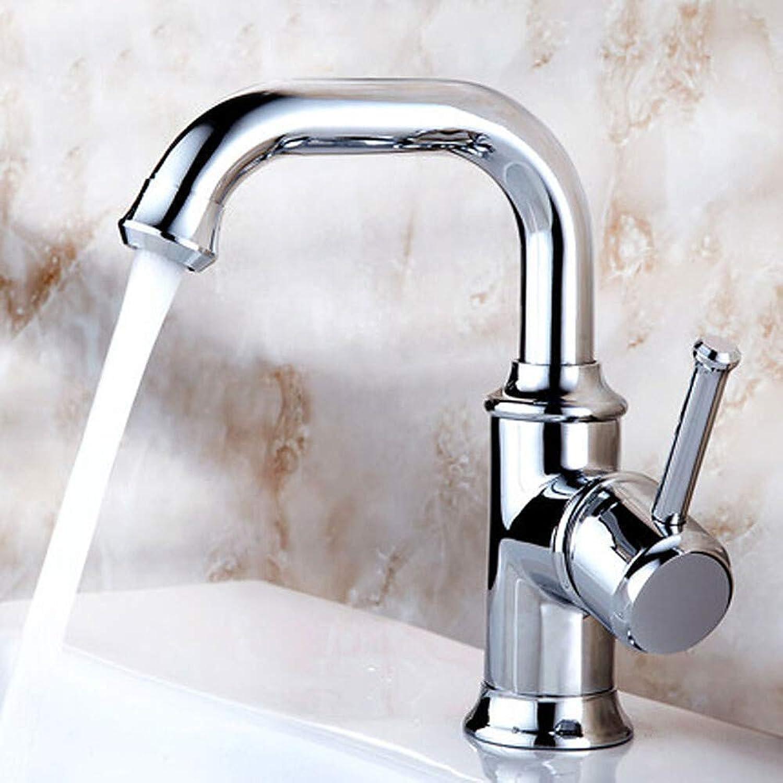Wasserhahnbad Waschbecken Wasserhahn - Vor Spülen Weit verbreitet Rotierbar Chrom Centerset Einhand Ein Loch