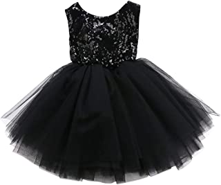 Toddler Kids Baby Girls Dress Sleeveless Sequins Bow-Knot Party Wedding Prom  Princess Lace Tutu 6207073df8c7