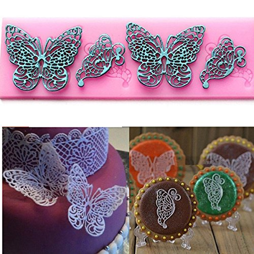 Bluelover Dentelle Papillon Moule En Silicone Moule À Gâteau Fondant Pâtisserie Outils Gâteau Dentelle Décoration Moule