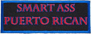 Smart Ass Puerto Rican Patch, Puerto Rico Flag Patches