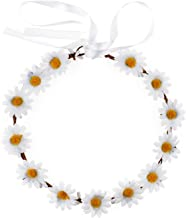 Love Sweety Daisy Flower Headband Boho Floral Crown Wreath for Wedding Festival