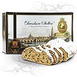 1000 g handgemachter 'Original Dresdner Christstollen®' im Geschenkkarton Motiv 'Canaletto Dresden'
