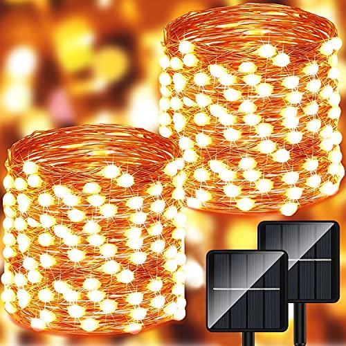 albero di natale zen Catena Luminosa Esterno Solare - 28m 280 LED Luci Solari Esterno (Perlina Luci Oversize) 8 Modalità Impermeabili Lucine da Esterno Decorative per Giardino
