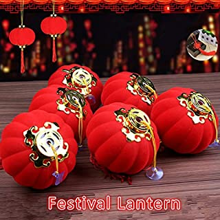 Hot sale 25pcs/lot Traditional Chinese Red Lanterns New Year Wedding Party Spring Festival Hang Mini Lantern Home Decoration