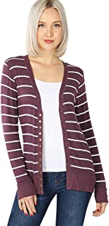 Cardigans Women Long Sleeve Cardigan Knit Snap Button Sweater Regular & Plus