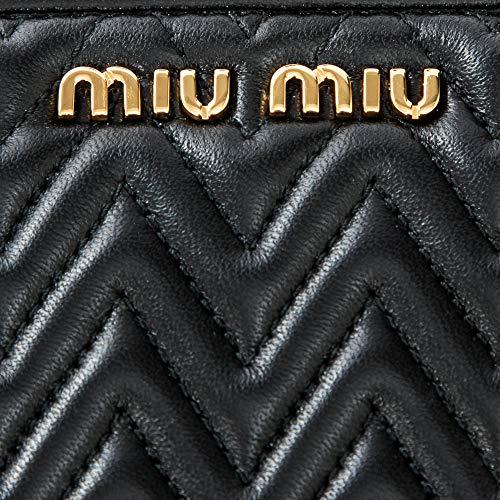 ミュウミュウMIUMIU長財布ラウンドファスナー5ML5062CALF0002ナッパインプントゥーレブラック黒[並行輸入品]