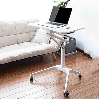 HAIZHEN Table pliable Tableau réglable portable de support pour ordinateur portable, bureau roulant avec le bureau mobile ...