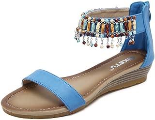 Women's Wedge Sandals Across The Top Platform High Heels
