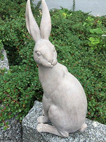 Dekofigur Figur Dekoration Hase Kaninchen Polyresin Shabby Antik Stil H 30,5 cm
