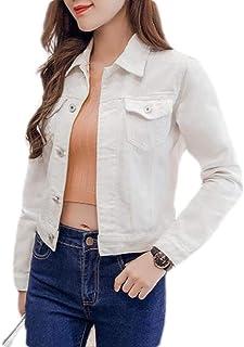 Women's Classic Jean Jacket High Performance Denim Long Sleeve Trucker Jacket