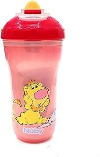 300 ml Nuby ID10411 color rosa Taza estampada con tapa de PP
