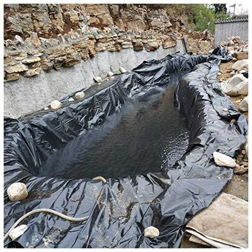 CHENLYD Teichfolien Liner Umweltfreundlich Premium PE Teichfolie 3m x 2m Schwarz für Gartenteich S20-0.2mm Stärke, UV-Beständig, Reißfest Teichfolie, Mehrere Größen Erhältlich (Size : 2x10m)