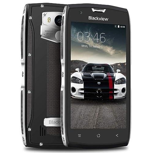 "Telefono IP68, Blackview BV7000 Impermeabile/Resistente/Antiurto Rugged Smartphone con 5.0"" FHD Display, 2GB RAM+16GB ROM, 8MP+5MP, 3500mAh Cellulari Indistruttibili, OTG/NFC/GPS/GLONASS- Argento"
