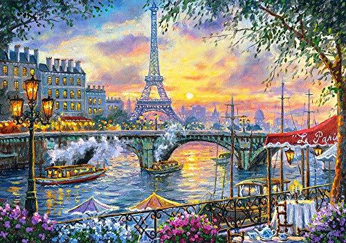 Tea Time in Paris Puzzle   Rompecabezas (Puzzle rompecabezas, Ciudad, Niños y adultos, Niño/niña, 9 año(s), 470 mm) , color/modelo surtido