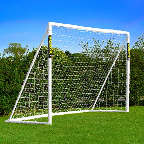 FORZA Locking Football Goal [8ft x 6ft] – Weatherproof PVC Garden Goals
