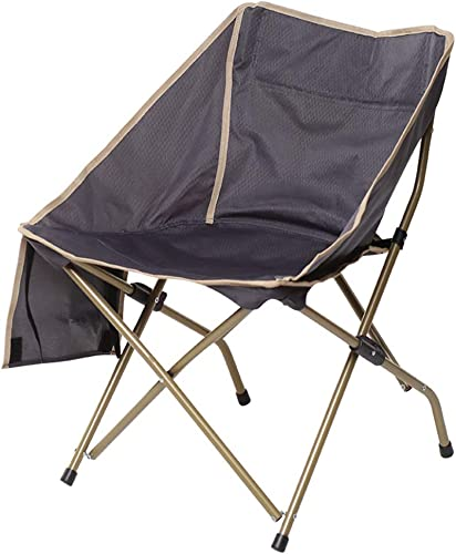 XBZDY Chaise De Camping De Loisirs en Plein Air grise, Chaise Pliante Ergonomique, Chaise De Pêche portable, Chaise Arrière, Chaise De Plage, Chaise Moon