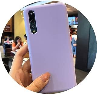 Official Style Silicone Case for Huawei Mate 20 10 P20 P30 Pro lite Original Cover for Honor 9 V10 8X lite Nova 3 4 Phone Case,Purple,Honor V10 or Nova 2S