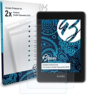 Bruni Screen Protector compatible with Amazn Kindl Paperwhite 2018 Protector Film, crystal clear Protective Film (2X)