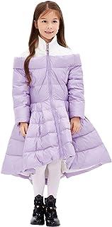 Tortor 1bacha(JP) 女の子のロングダウンジャケット ファスナー付きの羽毛ジャケット