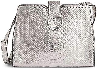 Lauren Ralph Lauren Python-Print Leather Crossbody Bag