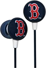 Zeikos iHip MLF10169BS MLB Boston Red Sox Printed Ear Buds, Blue/Red