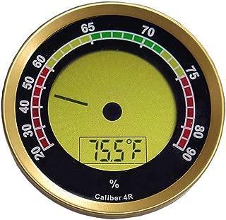 Caliber 4R IV R Gold Bezel Round Digital Hygrometer