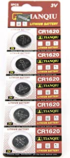 Cotchear CR1620 5009LC Lithium Blister Pack 3V 3 Volt Coin Cell Batteries (5 pcs)