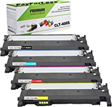PayForLess 4PK CLT-K406S Y406S M406S C406S XAA Toner Cartridge Replacement for Samsung Xpress C410W C460W Samsung CLX-3305FW CLX 3305 Samsung CLP-365W CLP-360