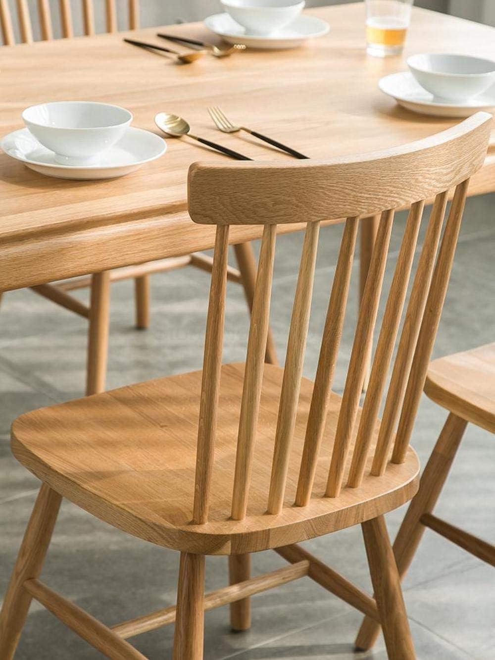 WYB Chaise en Bois Massif pour Salle à Manger avec Dossier de Table de café, AncienFermier5 Old Farmer 5
